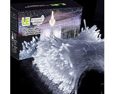 LE Rideau Guirlande lumineuse LED 3m * 3m, 8 Modes lumineux, Lumière Blanc du Jour 6000K, 306 LEDs, parfait pour décoration, Fenêtre Fête Mariage Anniversaire