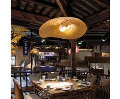 Lustre de tissage vintage en bambou naturel et luminaire suspendu en rotin tissé Créations de fées créatives réglable E27 suspension restaurant restaurant salon de thé chambre suspensions en bambou