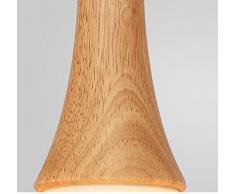 ztleuchte Rétro Pendule moderne Leuchten Lustre Bois abat-jour en verre vintage Suspension Hauteur réglable Lumière décorative Fur Café Party Bar travail esssaal Chambre Restaurants Cafe E27 × 3, Ø 62 cm