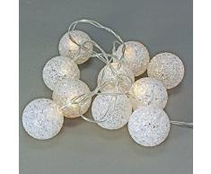 "Guirlande lumineuse 10 lED bALL boule lumineuse lED ""bALL"" pile 130 cm"