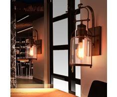 Aiwen Bouteilles en verre Style Rustique Fer Forgé Applique murale ( Ampoules non incluses ) ( 1 Support de lampe )