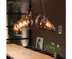 Métal rétro Lampe Vintage suspension Lustre plafond Lampe industrielle Lampe Bar lampe de Plafonniers lustre Luminaire KJLARS