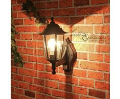 Rustique Applique murale en noir avec LED 230 V 1 x 12 W E27 Lampe murale en aluminium & Leuchten Lampe réglable pour jardin/terrasse jardin terrasse en verre éclairage extérieur