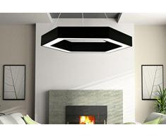 Lustre de bureau Miaoge conduit créative personnalité industrielle vent vêtements magasin éclairage géométrique simple moderne lampe hexagonale lustre 82cm