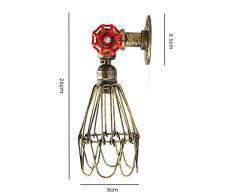Applique industrielle Rétr, Elfeland E27 lampe murale vintage, Lumière Eau, Métal Vintage Lampe Murale Décorative en Industriel Pour la Maison, Bars, Restaurants, Clubs, (110-240, ampoule non inclus)