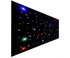 MuGuang Rideau DMX, 2X3 Mètre Rideau Décor Lampe RGB 108pcs LED Étoile Astérisque Ciel Lumineux pour Romantique Mariage Anniversaire Fête Scène DJ Cabaret Activité Noël