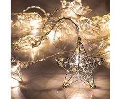 Guirlande lumineuse boule de Noël lumières de batterie de fée LED Mercury