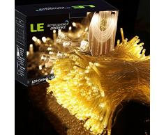 LE 3m*3m Guirlande lumineuse 306 LEDs, Rideau lumineux, parfait pour décoration rideau fenêtre, 8 Modes d'Eclairage, le Contrôleur avec la Fonction de Mémoire, 3000K Lumière Blanc chaud, Idéal pour Fêtes Mariages