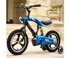 LEIXIN Vélo Enfants Freestyle Bikes Enfants garçon Fille Enfant vélo 3-10 Ans Poussette bébé 12 Pouces Roue en Plastique Gonflable avec Lampe