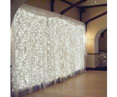 3M x 3M LED Guirlandes Rideaux Lumineux Decoration de Fenetre Panneau LED Interieur Lumiere 300LED