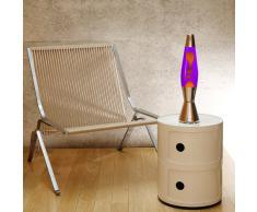 Mathmos Astrobaby Lampe à Lave - Violette/Orange