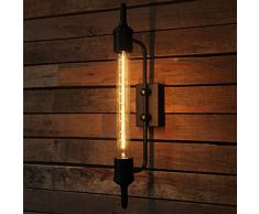 Rétro Rurale En Métal Long Mur Lampe Industrielle Cage Appliques Murales Éclairage pour Étudiant Vêtements Magasin Bar Café