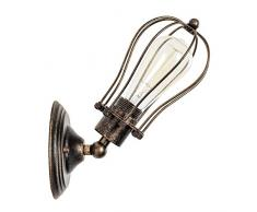 Applique Industrielle Applique Murale Interieur Cage Lampe Suspension vintage Luminaire pour Maison de Champagne Café Loft Cuisine Salon et chambre d'hôtel (Métal, bronze, ampoules non comprises)