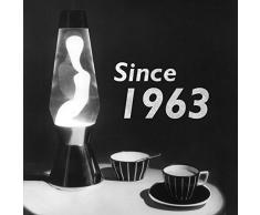 Mathmos Astro Héritage Lampe à Lave Noire - Transparent/Rose