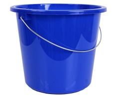 10 ou seau de 5 litres d'eau Seau Seau plastique plastique Seau Budget., Plastique, bleu, 5 l
