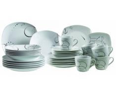 Domestic 921387 Assiettes Service de Table 12 Pièces Chanson