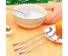 bluelans® long manche en acier inoxydable cuillères à café ou glace Crème Lot de 3 193mm