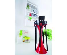 Koziol 3099100 Meeting Point Support Ustensiles Cuisine Plastique Blanc/Noir 12,8 x 17 x 34 cm