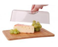 Quantio Cloche à fromage avec planche en bambou