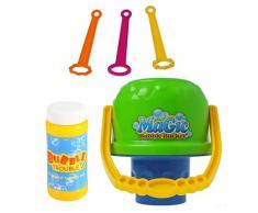 babysbreath17 Enfants Bulles en Plein air Jouets Eau Blowing Jouets Seau Bubble Soap Bubble Blower Enfants Toy Cadeau d'anniversaire