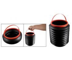 TOOGOO(R) Noir Plastique pliable 4L Eau Recipient Seau botte Organisateur