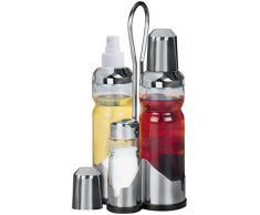 Fackelmann Menage Service vinaigre/ spray huile /salière et poivrière Inox