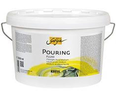 Kreul 87215 Solo Goya Pouring Fluide acrylique liquide pour technique darrosage et de drainage à base deau Seau de 2500 ml