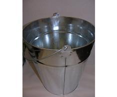 Seau zinc Seau à cendres Poignée eau Seau Tôle Seau galvanisé Pot de 10L