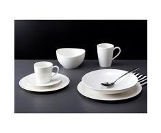 Vivo Villeroy & Boch Voice Basic Serie Service à café en Porcelaine de qualité Supérieure Blanc, Blanc, Service de Table