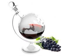 Lantelme 4964 Cognac eau-de-vie de vin de liqueur en verre à whisky - 1 carafe caraffe avec globe-globe