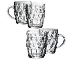 VonShef : Magnifique Set de 4 verres à bière traditionnels