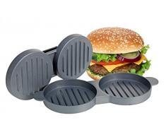 Double presse à hamburger – aluminium – mini-hamburgers – Presse à hamburger – presse Transformer – Double – Ustensiles de cuisine