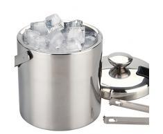 Seau à glace avec une contenance de 1,3 L * H/l/P : env. 19/13,8/13,8 cm * Acier inoxydable