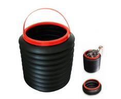 SODIAL(R) Noir Plastique pliable 4L Eau Recipient Seau botte Organisateur