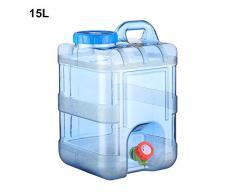 azurely 15 / 20L récipient de Stockage de l'eau, PC avec Robinet avec Couvercle Portable Seau d'eau Potable d'urgence pour Seau de Stockage d'eau extérieur