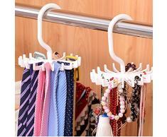Legow® 360 Degrés Tournant Porte-Cravate Tie Rack Support Ceinture Multifonction Holder Stand Bijoux Rack Pour Bijoux Tie Ceinture Serviettes Etc (Purple)