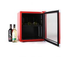 Klarstein Coollocker Mini réfrigérateur type cave à vin (pour conservation de bouteilles, capacité de 46L, classe énergétique B, porte transparente)