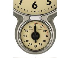 Bresser MyTime Horloge et Minuterie de Cuisine Rétro en Acier Inoxydable