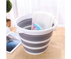Ablerfly Seau en Plastique Pliable de 10 L (2,6 gallons), Contenant pour Eau de Baignoire Ronde Pliable et sans BPA ni au Lave-Vaisselle, Seau Gain de Place pour l'intérieur et l'extérieur richly
