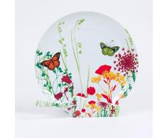 TABLE PASSION APL3044056 Plat à Tarte, Porcelaine, Multicolore, 30 X 30