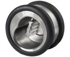 Nuance 461370 Casse-Noisette Ronde Acier Inoxydable Noir 8 cm