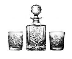 Lot de aljulia 2117 of Sweden Lot de 6 Verre à Whisky en cristal en verre, 1 x Carafe à whisky