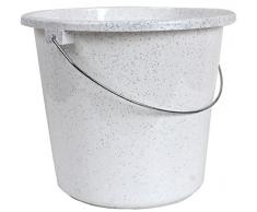 10 ou seau de 5 litres d'eau Seau Seau plastique plastique Seau Budget., Plastique, blanc, 5 l