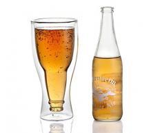 Verre à bière original Upside Down - Verre double paroi insolite et décoratif - Le verre à bière design