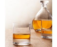 Kit whisky carafe Lismore avec bouchon et 2 verres à whisky classiques coffret cadeu 3 pièces