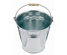 9L 12L 15L 18L litre Seau en métal galvanisé Eau Fire à charbon Home Garden de salle de bain Nettoyage Seau de stockage, 12 Liter