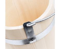 Seau de 5 Litres d'eau Seau en bois pot poignée en métal