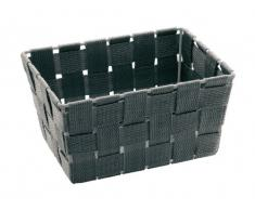 Wenko 21349100 Adria Corbeille Mini pour Salle de Bain Long Gris 19,5 x 14,2 x 10 cm