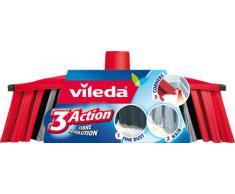 Vileda 142158 Tête de Balai intérieur 3Action, Plastique, Multicolore, 28x14x4 cm