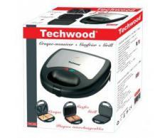 Techwood TGCI-809 Gaufrier + Croque + Grille Inox